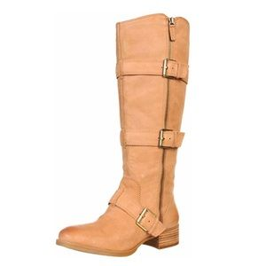 Boutique 9 brown Dacia boots chunky heel 7M